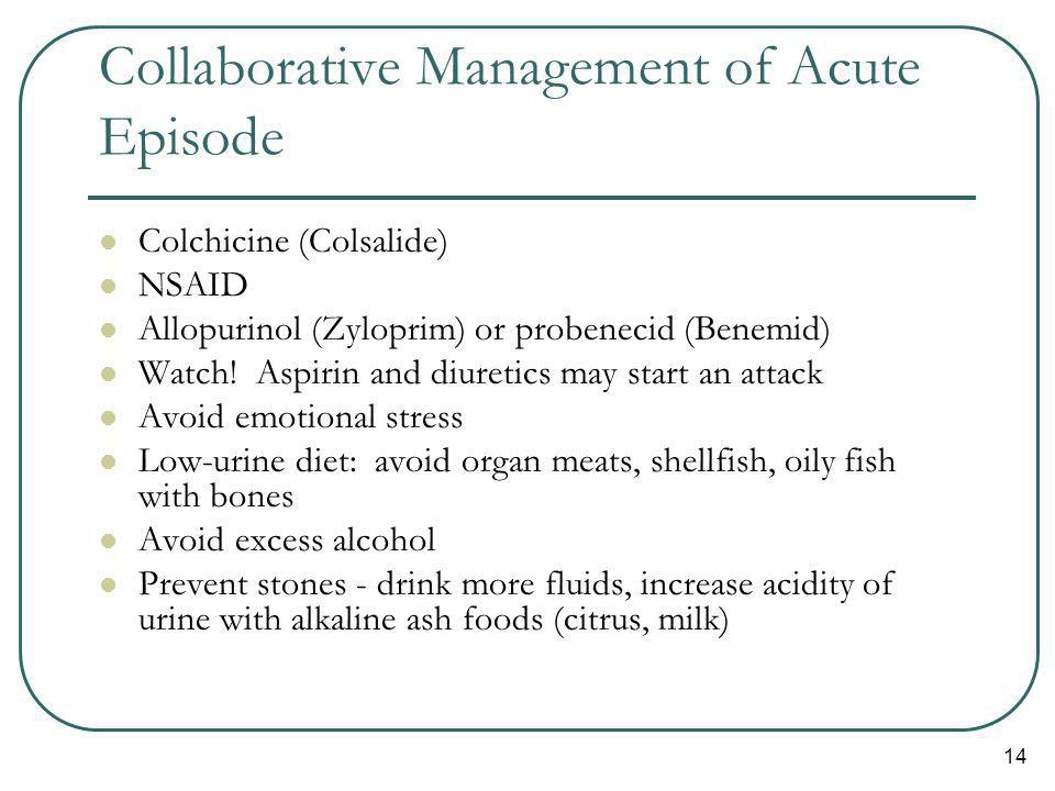Collaborative Management of Acute Episode