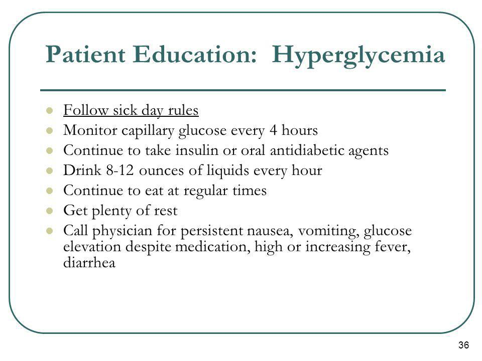 Patient Education: Hyperglycemia