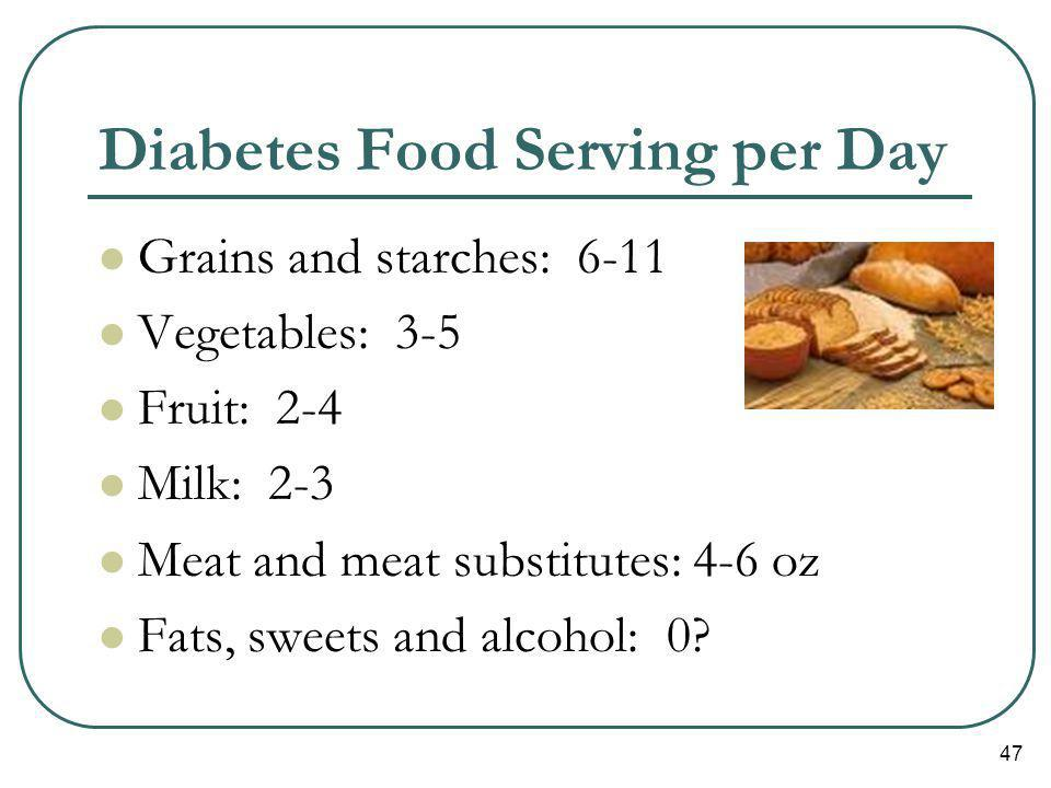 Diabetes Food Serving per Day