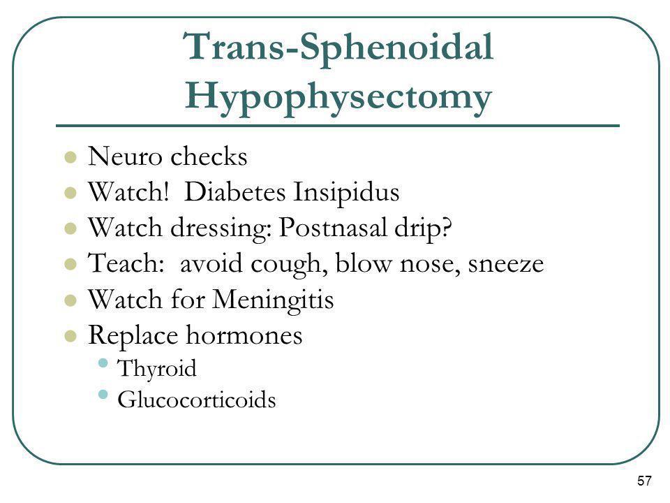 Trans-Sphenoidal Hypophysectomy