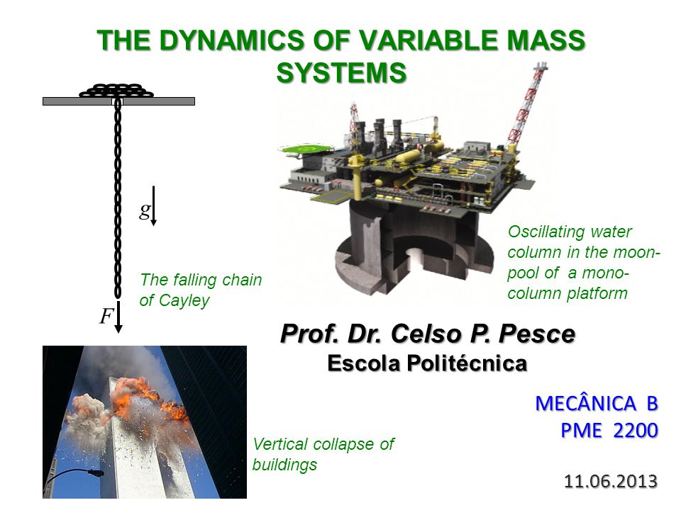 THE DYNAMICS OF VARIABLE MASS SYSTEMS