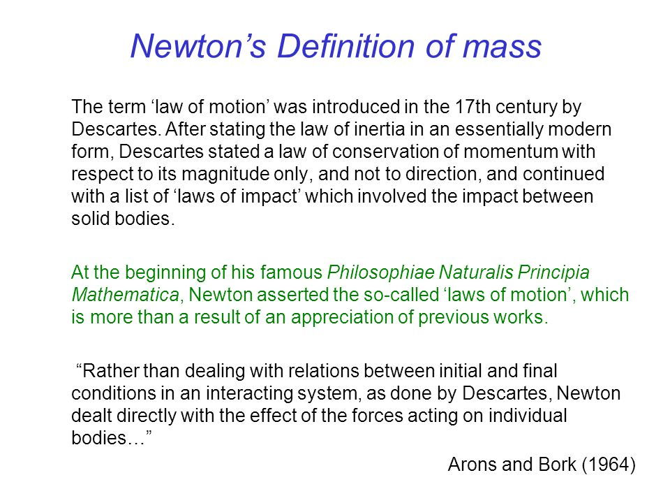 Newton's Definition of mass
