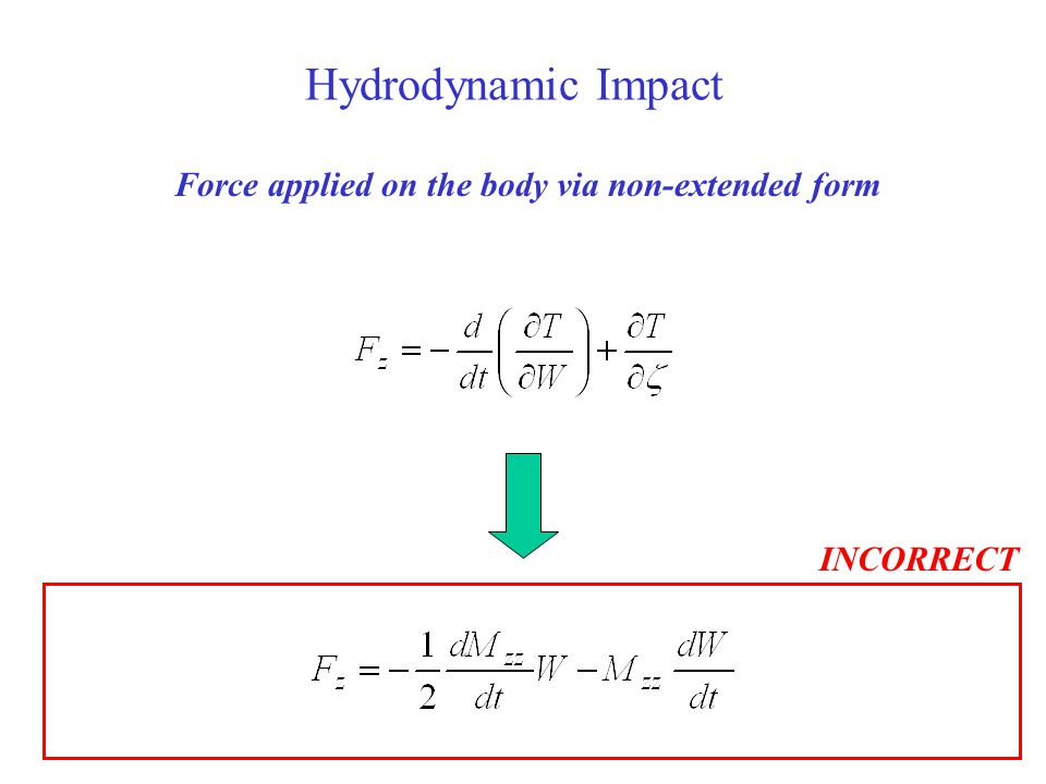 Force applied on the body via non-extended form