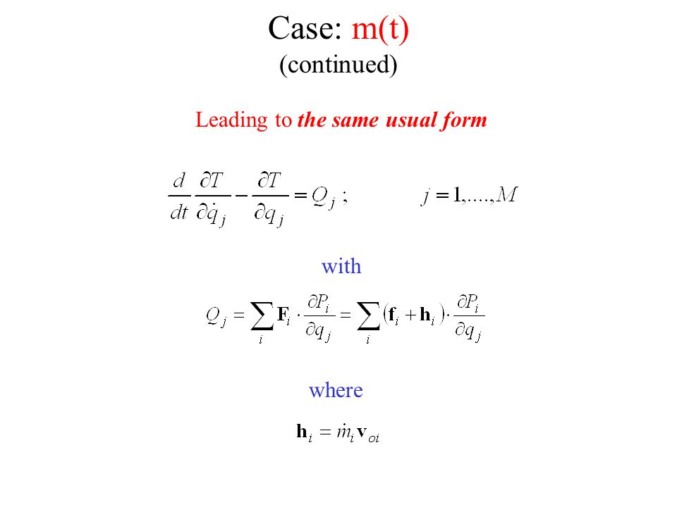Case: m(t) (continued)