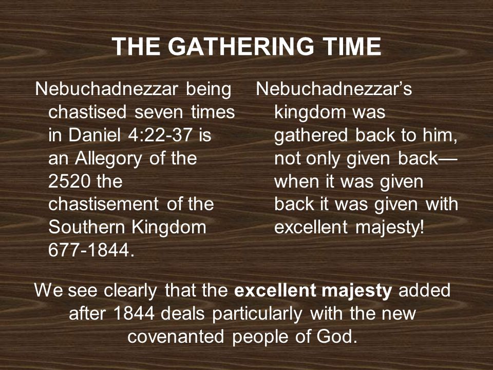 THE GATHERING TIME