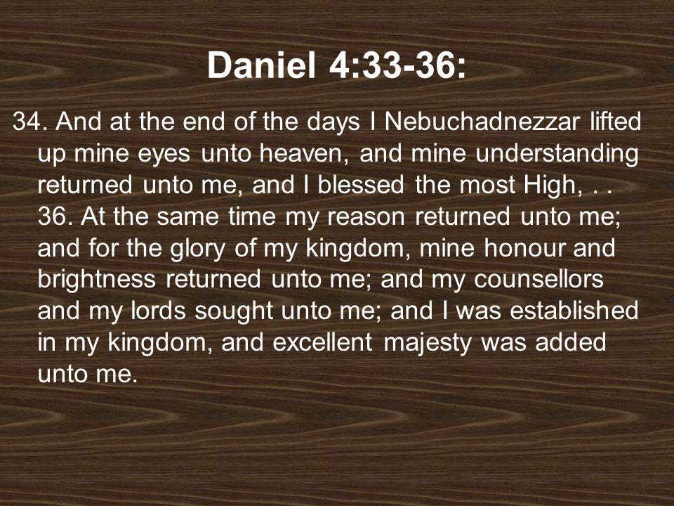 Daniel 4:33-36: