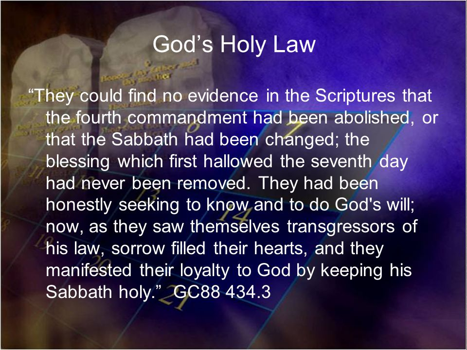 God's Holy Law
