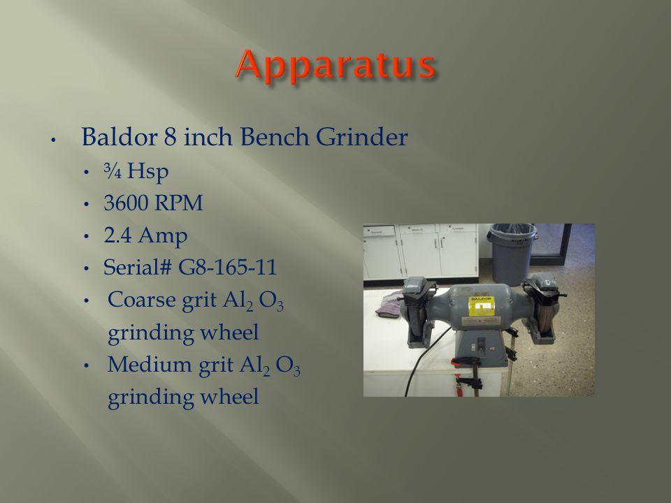 Apparatus Baldor 8 inch Bench Grinder ¾ Hsp 3600 RPM 2.4 Amp