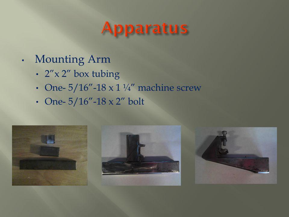 Apparatus Mounting Arm 2 x 2 box tubing