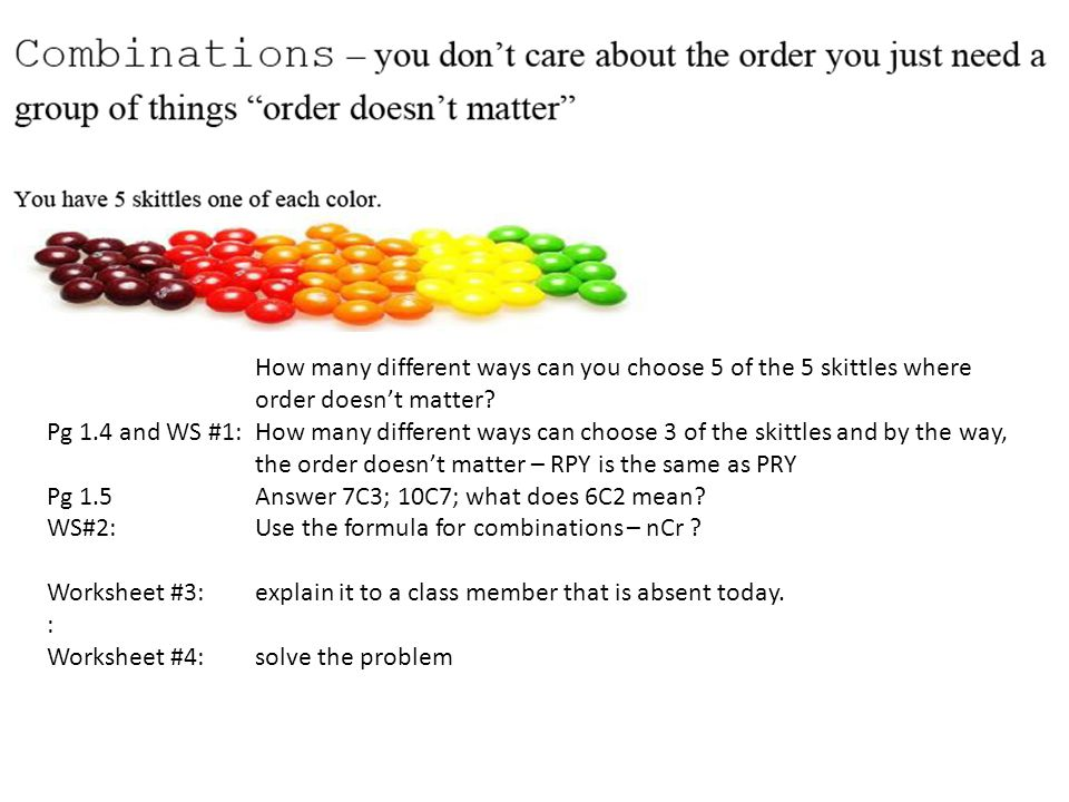 Permutations and Combinations ppt download – Combination and Permutation Worksheet
