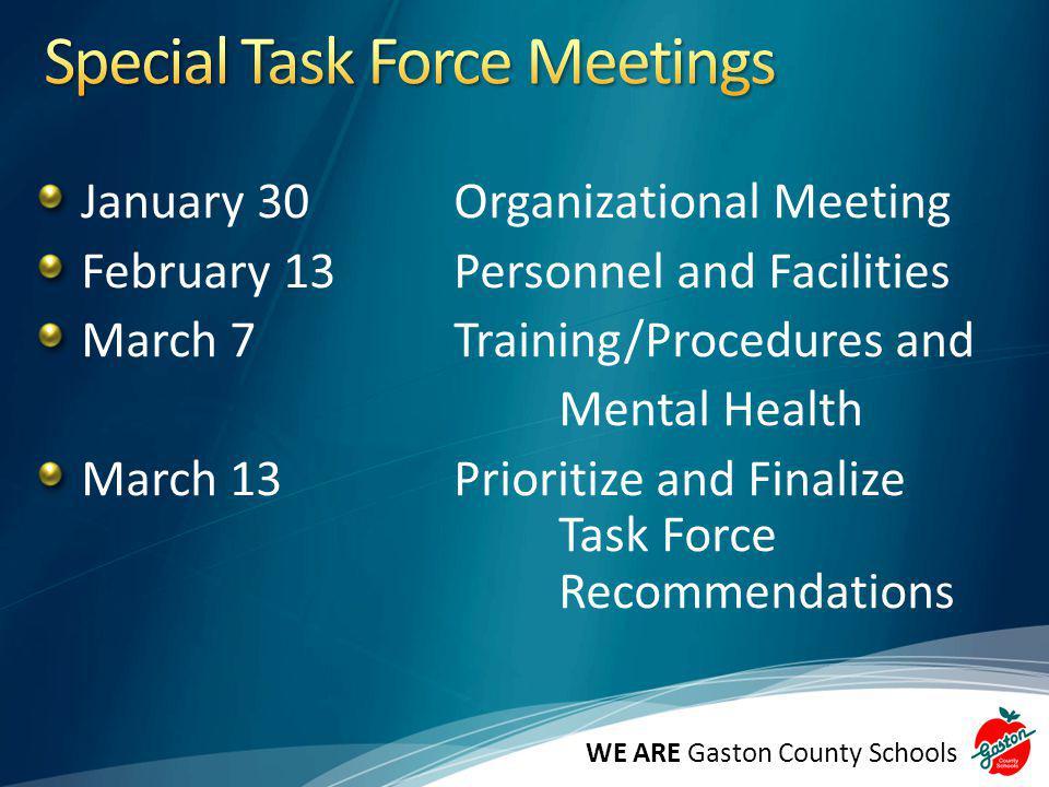 Special Task Force Meetings