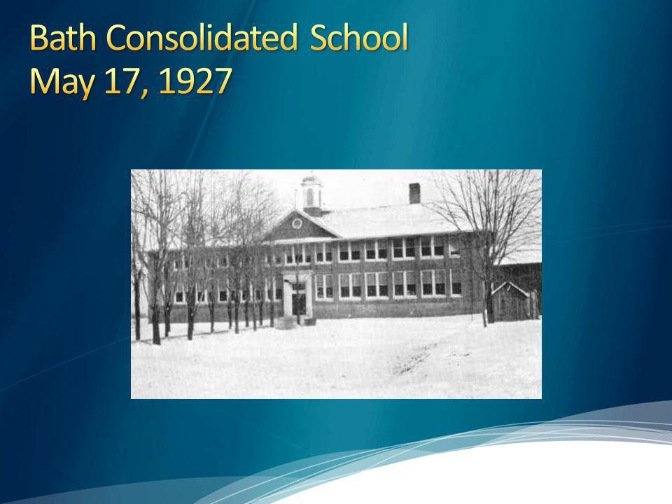 Bath Consolidated School May 17, 1927
