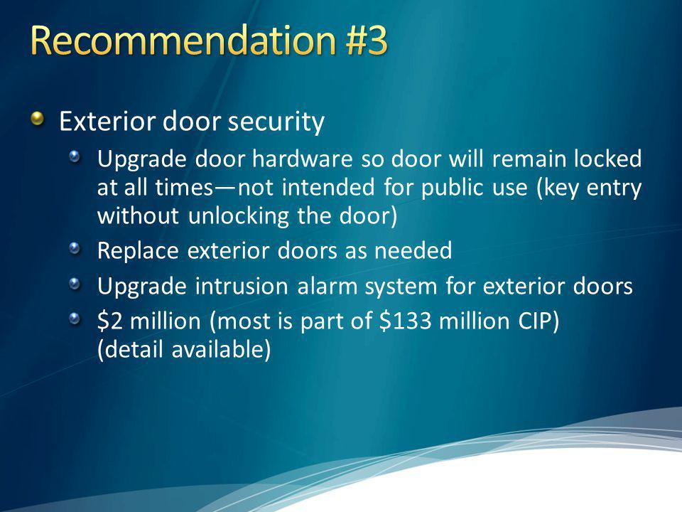 Recommendation #3 Exterior door security