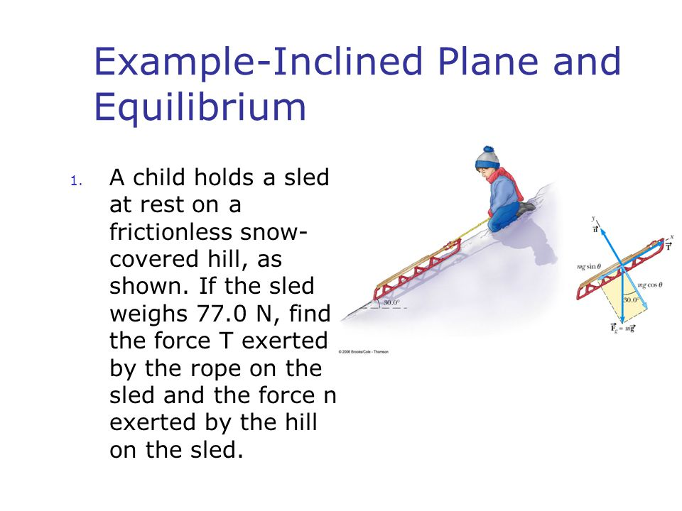 Example-Inclined Plane and Equilibrium