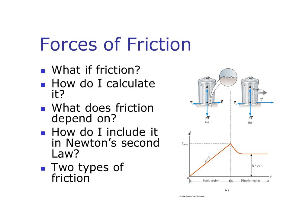 Forces of Friction What if friction How do I calculate it