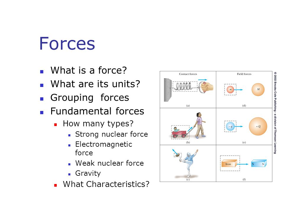 Forces What is a force What are its units Grouping forces