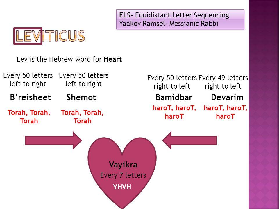 Leviticus B'reisheet Shemot Bamidbar Devarim Vayikra