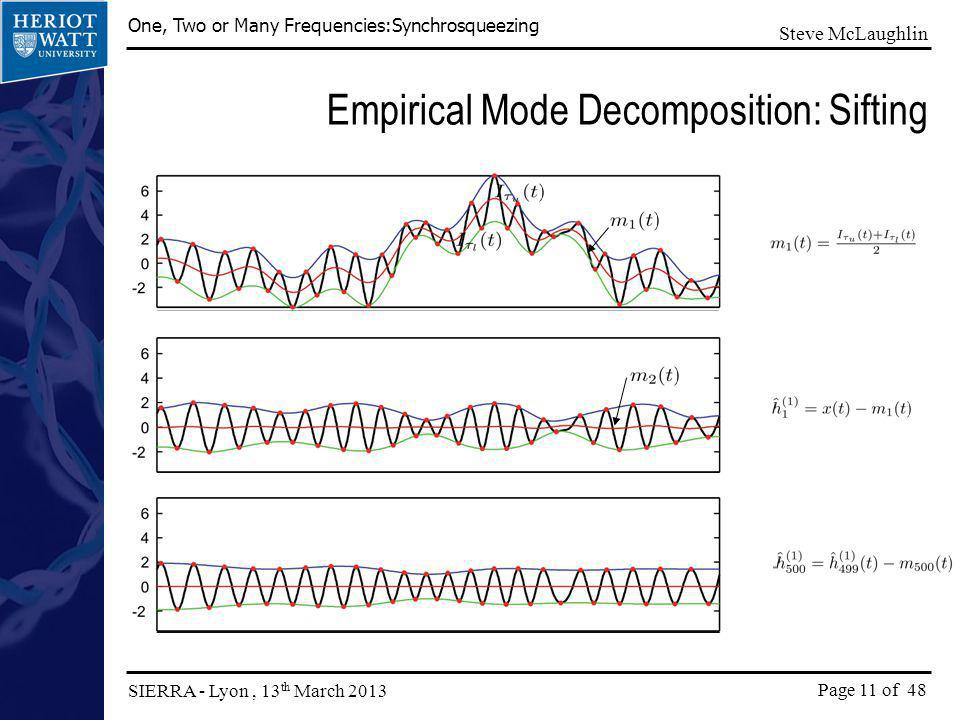 Empirical Mode Decomposition: Sifting