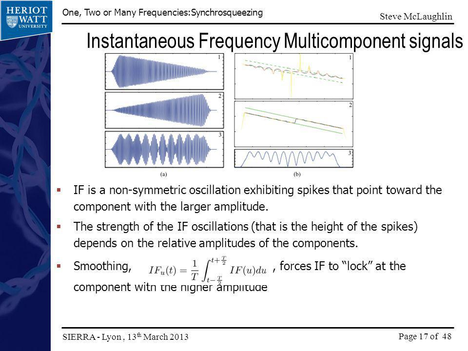 Instantaneous Frequency Multicomponent signals