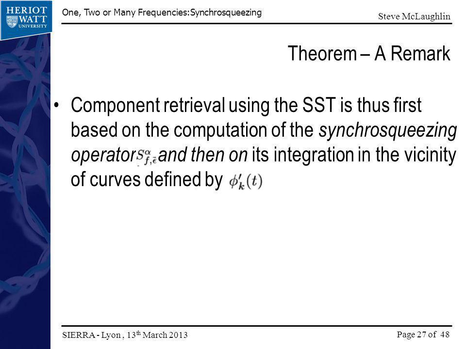 Theorem – A Remark