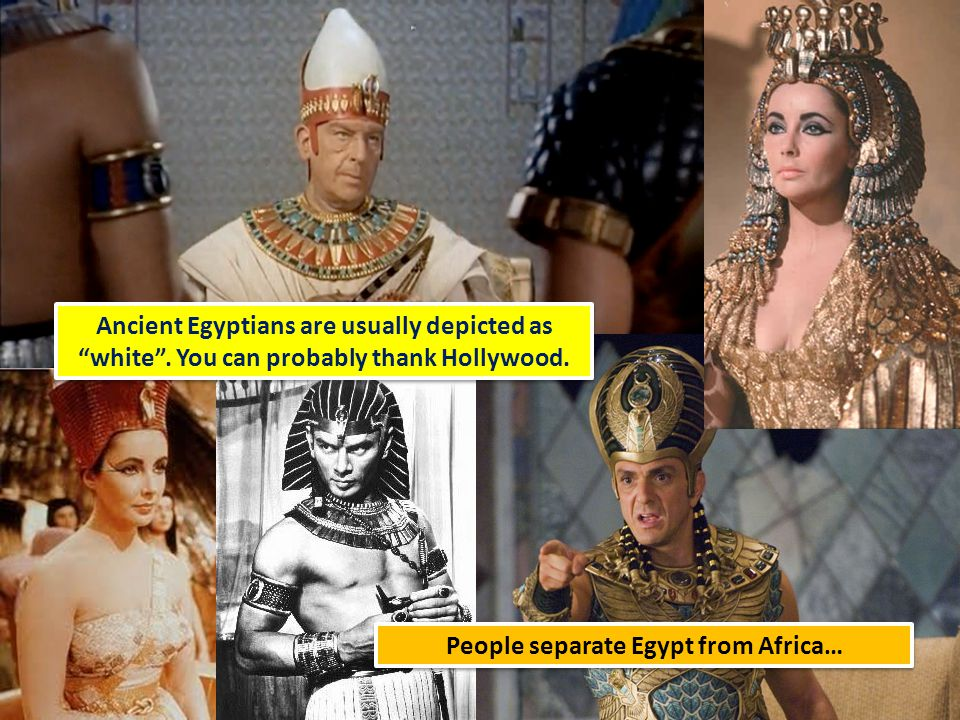 People separate Egypt from Africa…