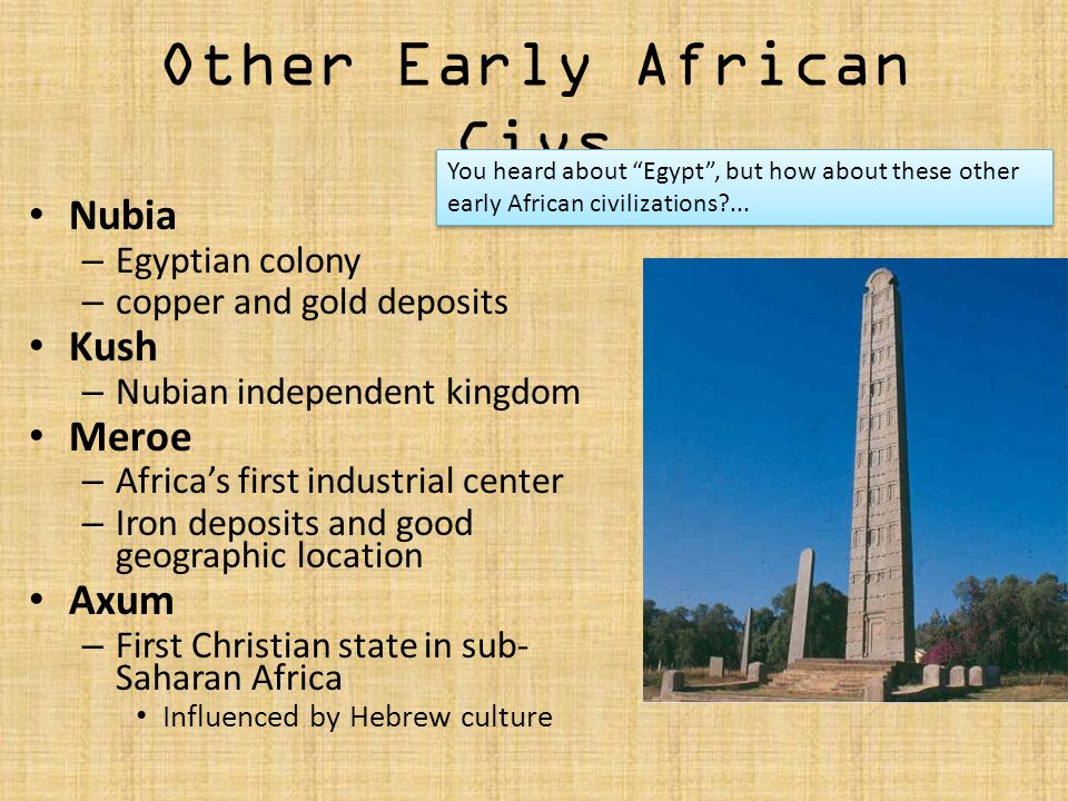 Other Early African Civs