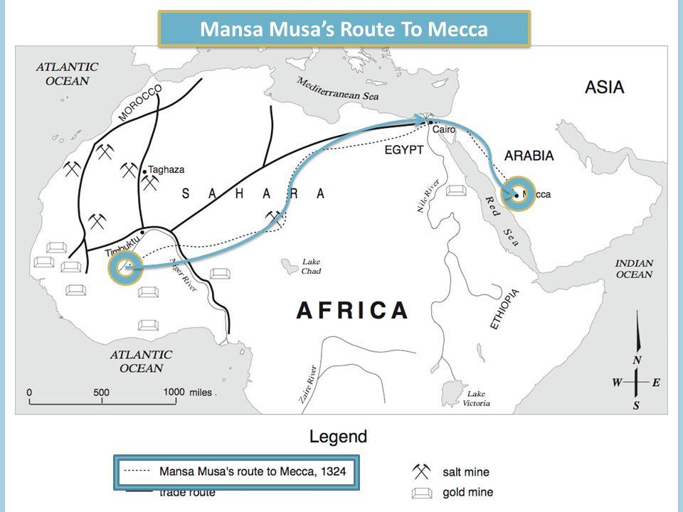 Mansa Musa's Route To Mecca
