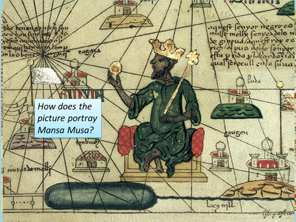 How does the picture portray Mansa Musa
