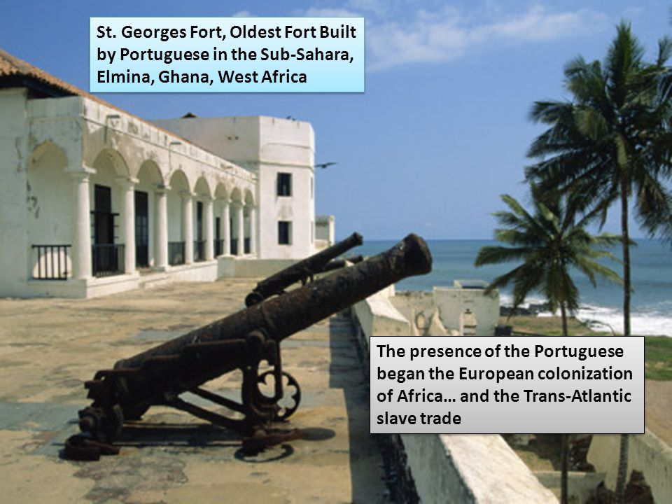 Benin St. Georges Fort, Oldest Fort Built by Portuguese in the Sub-Sahara, Elmina, Ghana, West Africa.