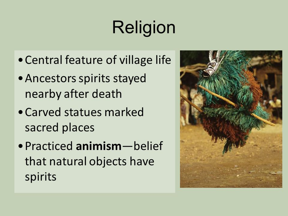 Religion Central feature of village life