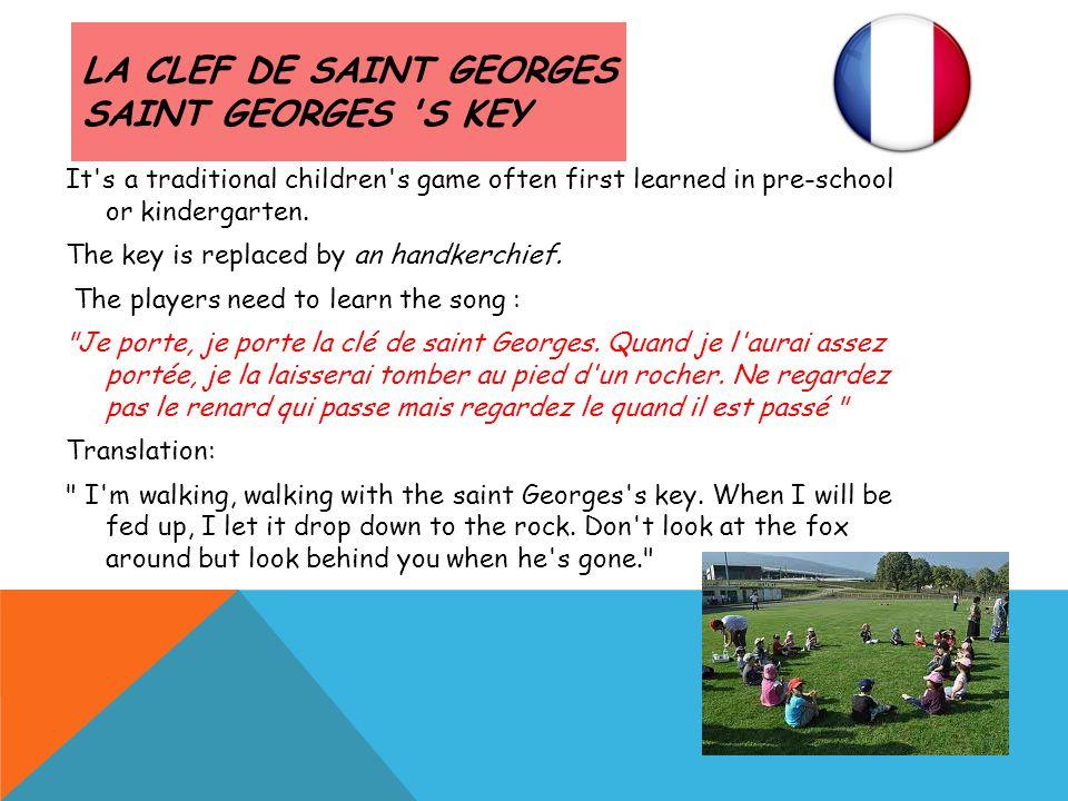 La clef de saint Georges Saint Georges s key