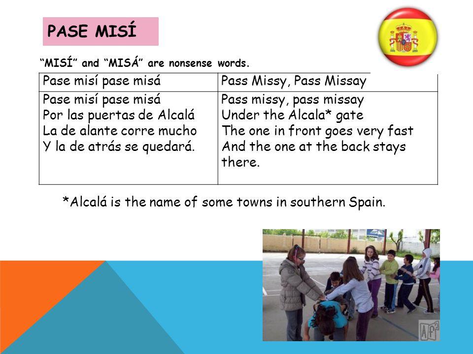 PASE MISÍ Pase misí pase misá Pass Missy, Pass Missay