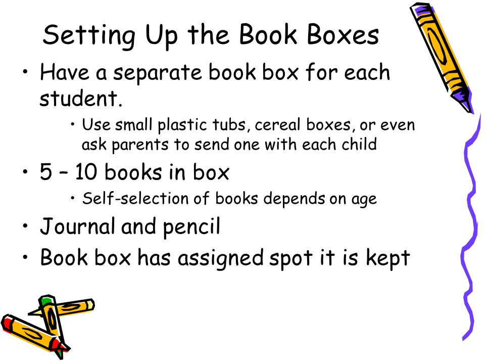 Setting Up the Book Boxes