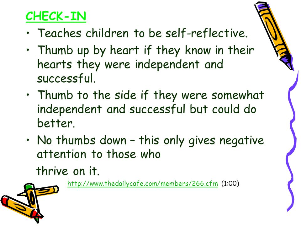 Teaches children to be self-reflective.