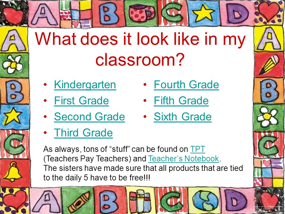 What does it look like in my classroom