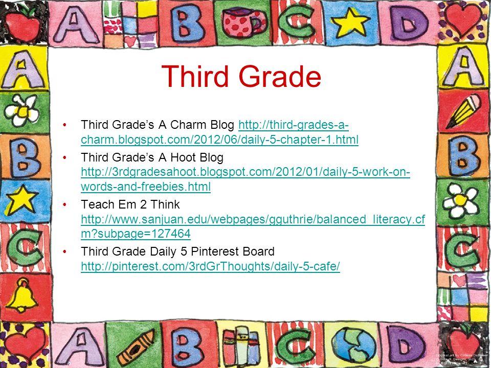 Third Grade Third Grade's A Charm Blog http://third-grades-a-charm.blogspot.com/2012/06/daily-5-chapter-1.html.