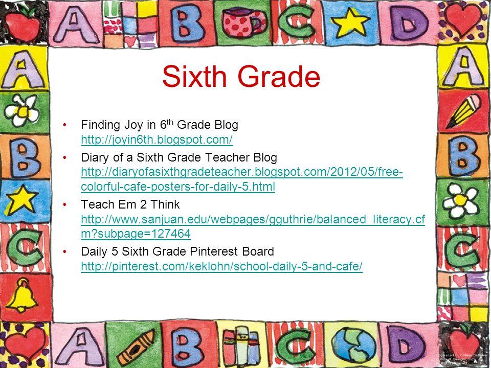 Sixth Grade Finding Joy in 6th Grade Blog http://joyin6th.blogspot.com/