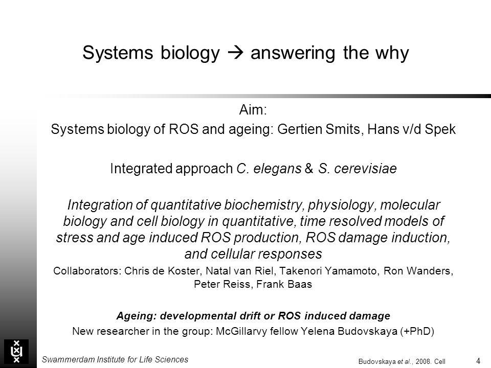 Systems biology  answering the why