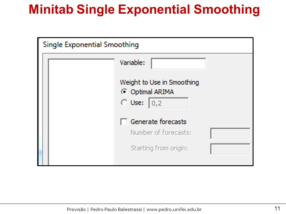 brown exponential smoothing