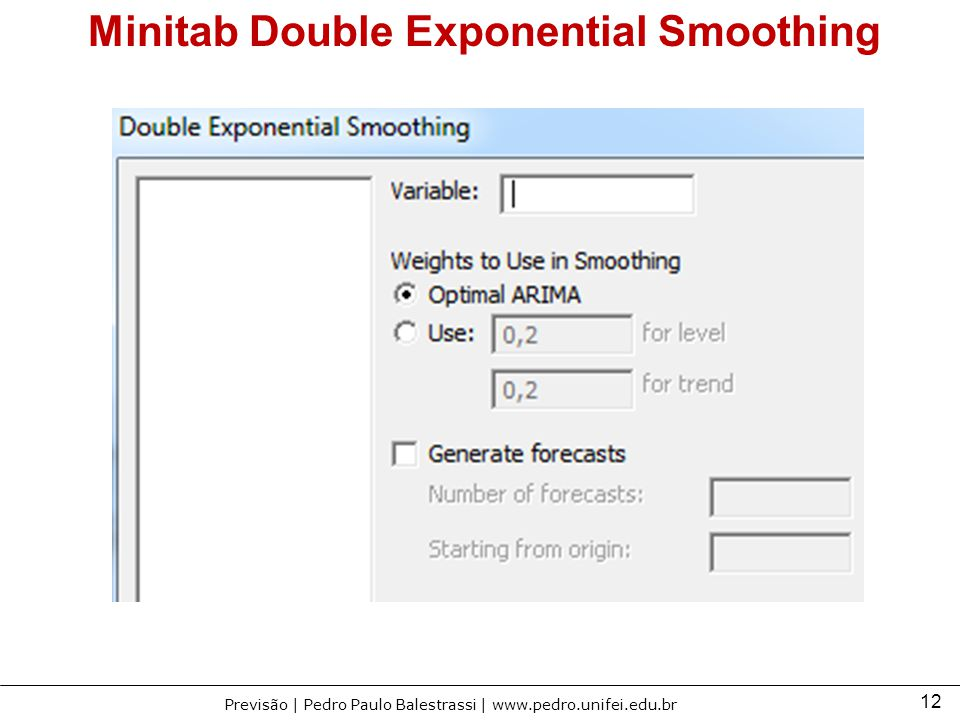Minitab Double Exponential Smoothing