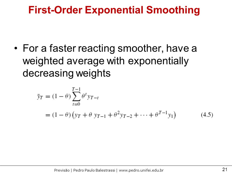 First-Order Exponential Smoothing