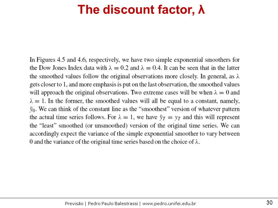 The discount factor, λ