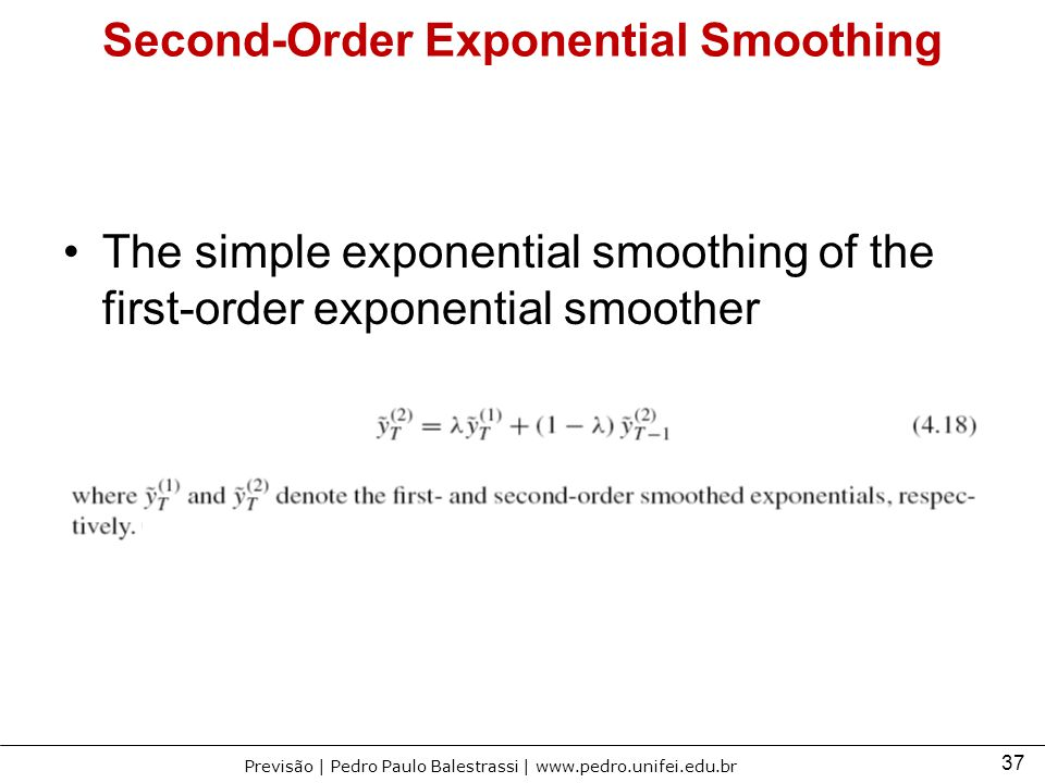 Second-Order Exponential Smoothing