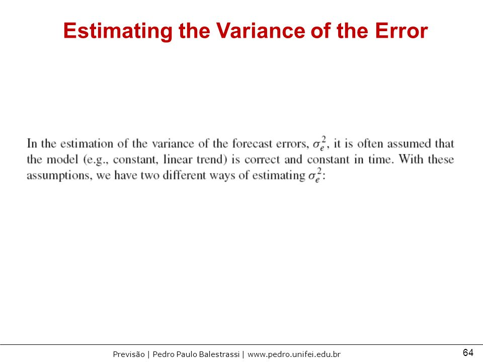 Estimating the Variance of the Error