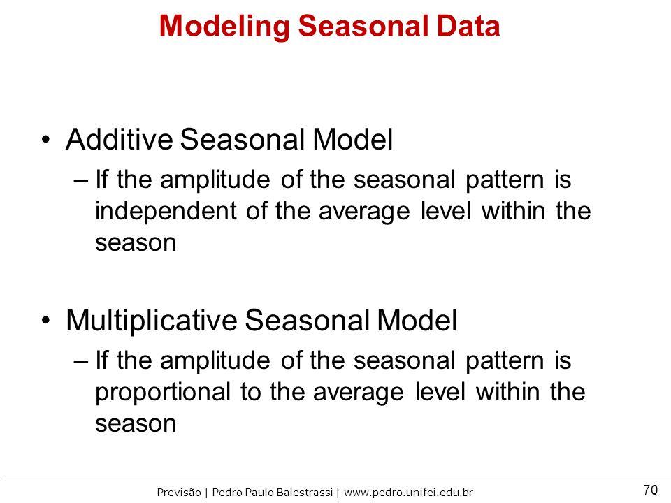 Modeling Seasonal Data