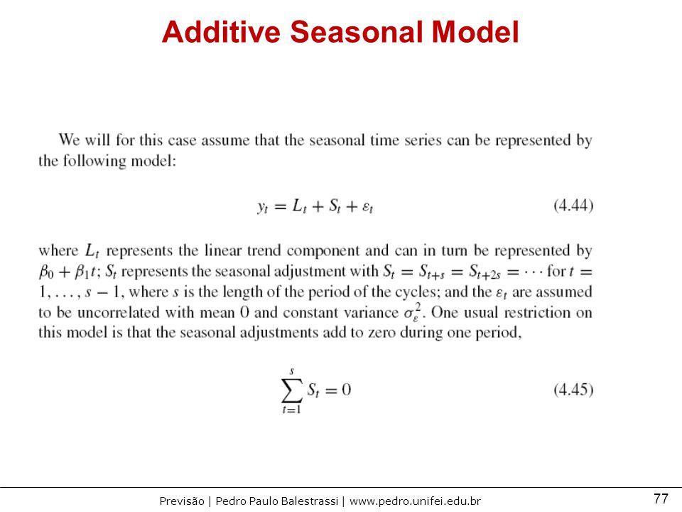 Additive Seasonal Model