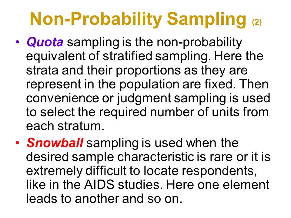 Non-Probability Sampling (2)