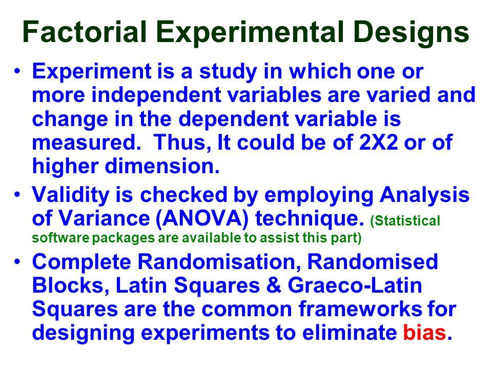 Factorial Experimental Designs