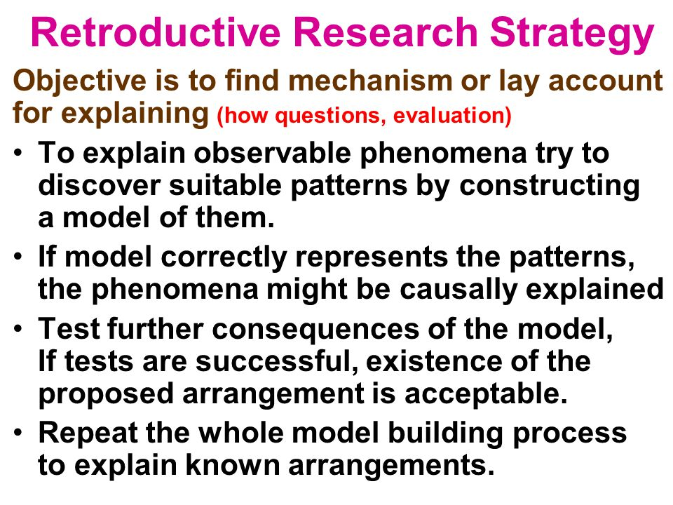 Retroductive Research Strategy