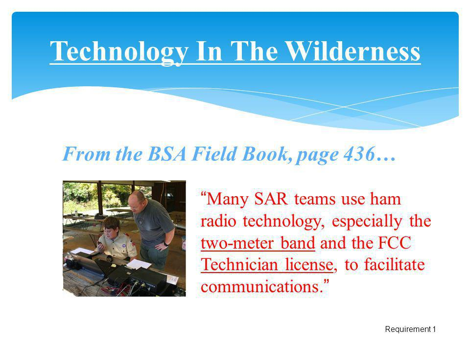 Technology In The Wilderness